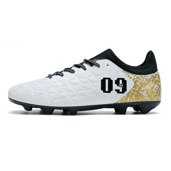 Men's Football Shoes With Ankle Socks Sports Shoes Man Outdoor Long Spikes Soccer Cleats chuteiras Size 39-44 S164