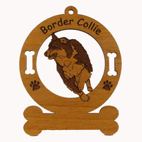 1845 Border Collie Running Ornament Personalized with Your Dog's Name