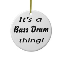It's a bass drum thing! christmas ornament from Zazzle.com