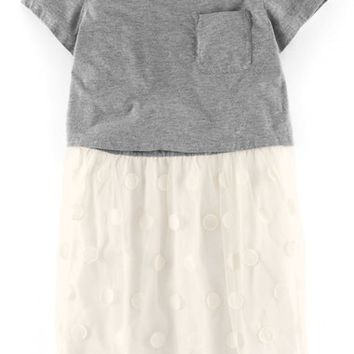Girl's Johnnie B by Boden 'Anya' Dot Tulle Dress,