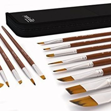 Paint Brush Set of 15 for Acrylic, Oil, Watercolor, Gouache, Face Painting, Fine Detail Painting Brushes, Long Lasting, Handmade, Durable