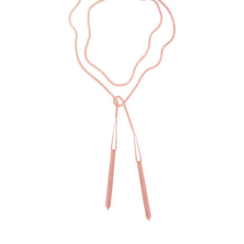 Kendra Scott Phara Long Rose Gold Tassel Necklace