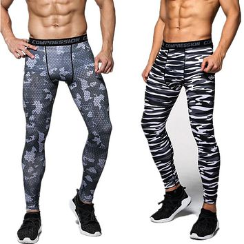 New Camouflage Compression Pants Men Fitness Tights Men's Joggers Bodybuilding Leggings High Elasticity Skinny Leggings