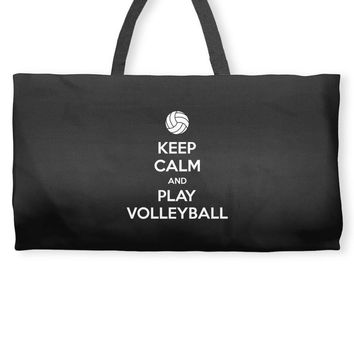 Keep Calm and Play Volleyball Weekender Totes