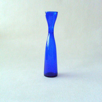 Swedish Glass vase,Elme glassworks Mid Century Modern,Cobalt blue