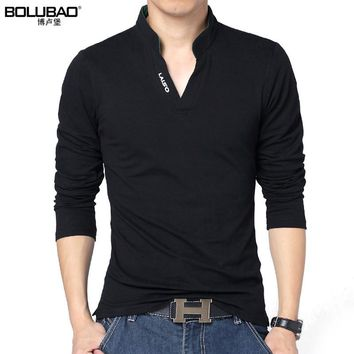 2017 New Arrival Spring Brand Polo Shirt Men Fashion Solid Color Long Sleeve Polo Men Casual Slim Fit Men Shirt