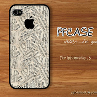 Life style with music Vintage : Handmade Case for Iphone 4/4s , Iphone 5