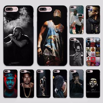 Hot Sale Jay Z Kanye West Watch the throne design hard black Case Cover for Apple iPhone 7 6 6s Plus SE 5 5s 5c 4 4s