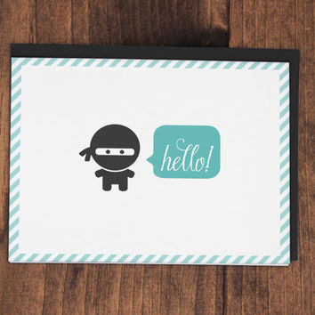 Ninja Ninj Greeting Cards  4 pack by ninjandninj on Etsy