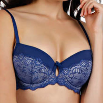 Paramour by Felina 135003 Melody Contour Bra With Lace Overlay