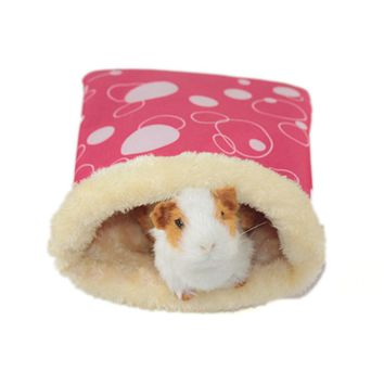 Small Pet Nest Hedgehog Squirrel Hamster Bed Wolf Guinea Pig Sleeping Bag