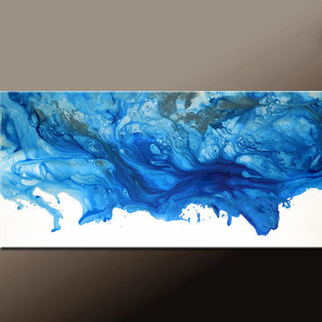 Abstract Canvas Art Painting 60x24 Original Contemporary by Destiny Womack  dWo - The Sky Is Falling II  ON SALE