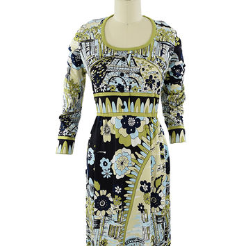 70s Paganne Paris Print Dress