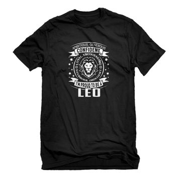 Mens Leo Astrology Zodiac Sign Unisex T-shirt