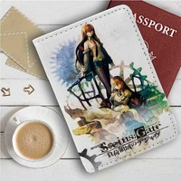 Steins Gate Leather Passport Wallet Case Cover