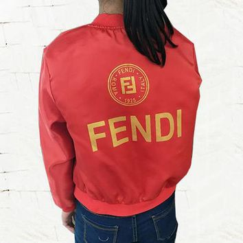 FENDI Woman Men Fashion Cardigan Jacket Coat Windbreaker