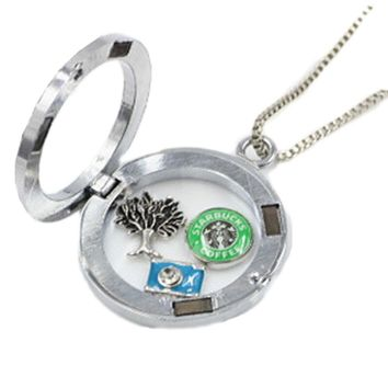 Heart love animal crystal alloy Resin Mixed Float Charms for Glass Memory Lockets