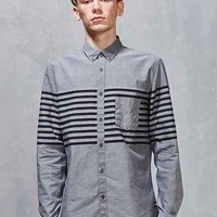 Barney Cools Stripe Oxford Button-Down Shirt