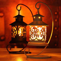 Iron Moroccan Style Candlestick Candle Holder Candle Stand Light Holder European Style Home Decoration Lantern T15 0.5