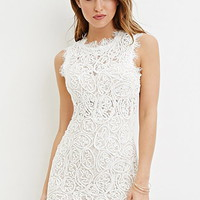 Rope-Embroidered Lace Mini Dress