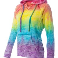 Weatherproof Ladies TIE DYE Hooded Pullover Fleece Sweatshirt S-2XL hoodie W1162