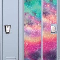 Colored Galaxy Full Length Vinyl Magnetic School Locker Wallpaper