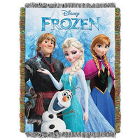 The Northwest Company Frozen Fun from Disney's Frozen Tapestry Throw blanket, 48 by 60-inch