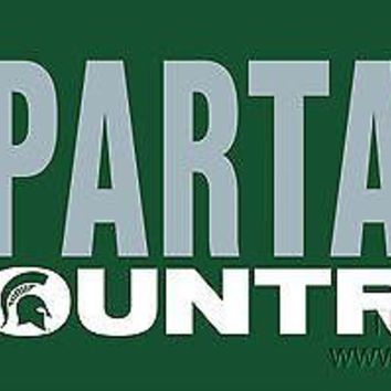 Michigan State Spartans COUNTRY SD Deluxe Laser Cut License Plate Tag University