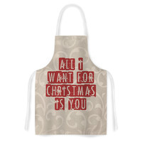 "Sylvia Cook ""All I Want For Christmas"" Holiday Artistic Apron"