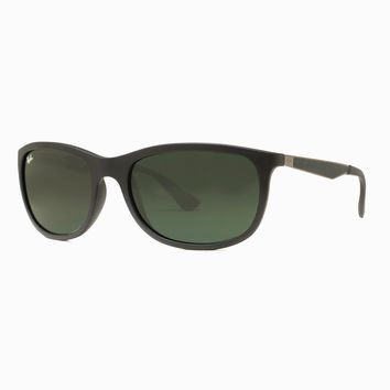Ray Ban RB4267 601S/71 Matte Black/Silver Green G15 Classic Rectangle Sunglasses