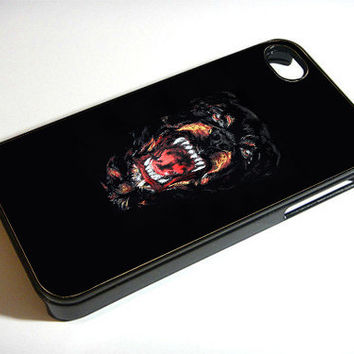 Newest Arrival Dog Roar - Print on iPhone 4/4s Case - iPhone 5 Case - Samsung Galaxy S3 - Samsung Galaxy S4