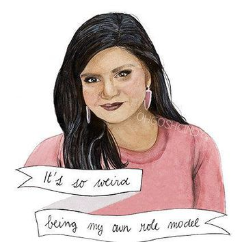 Mindy Lahiri Watercolor Portrait Illustration Mindy Kaling The Mindy Project