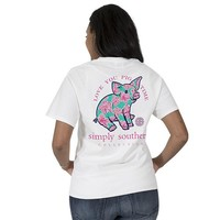 "Simply Southern ""Preppy Piggy"" Short Sleeve Tee"