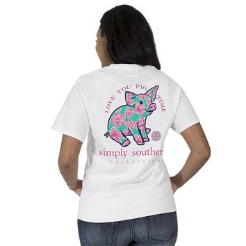 "Youth Simply Southern ""Preppy Piggy"" Short Sleeve Tee"