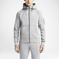 Nike AW77 Fleece Full-Zip Men's Hoodie Size XL (Grey)