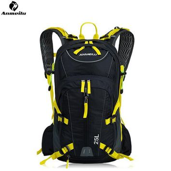 ANMEILU 25L Waterproof Sports Bag Outdoor Camping Hiking Climbing Bag Travel Cycling Backpack Hydration With Rain Cover