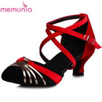 MEMUNIA 2017 High quality women high heels sandals fashion buckle summer shoes mixed colors  ladies party shoes