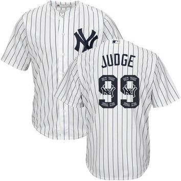 New York Yankees Cool Base MLB Custom White Logo Jersey