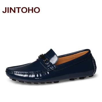 Genuine Leather Slip On Glitter Men Loafers Fashion Driving Shoes Casual Men Flats Shoes Male Loafers