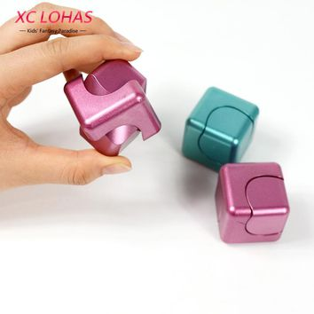 3 Colors Funny Fidget Cube Spinner Adult Anti Stress Toys Spin Puzzle Magic Cube  Finger Toys Small Gifts For Men