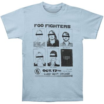 Foo Fighters Men's  Cubby Bear Chicago Mens Soft Slim Fit T-shirt Light