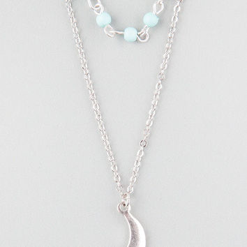 FULL TILT 2 Row Beaded/Moon Necklace | Necklaces