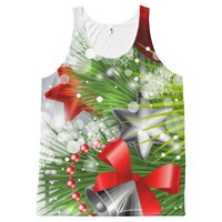 Christmas Red All-Over-Print Tank Top