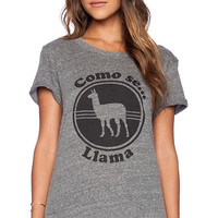 Local Celebrity Como Se Llama Schiffer Tee in Gray