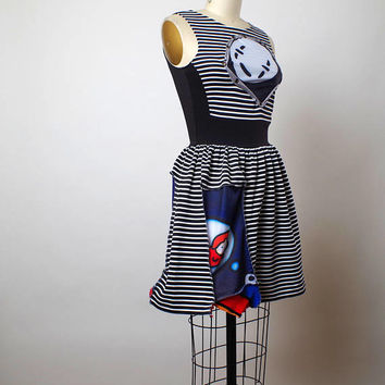 Striped Summer Dress - Funky Summer Dress - Comic Book Dress - Eco-friendly Clothing - Funky