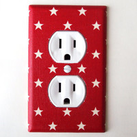 Patriotic Americana Stars Outlet Cover