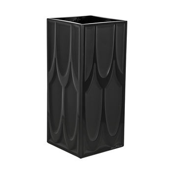 Lalique Manhattan Black Crystal Vase 10118300