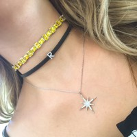 Sterling silver layering chokers + necklaces