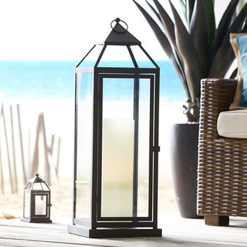 Landen Extra-Large Black Metal Lantern