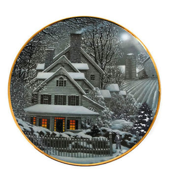 Franklin Mint Winter Home Collector Plate